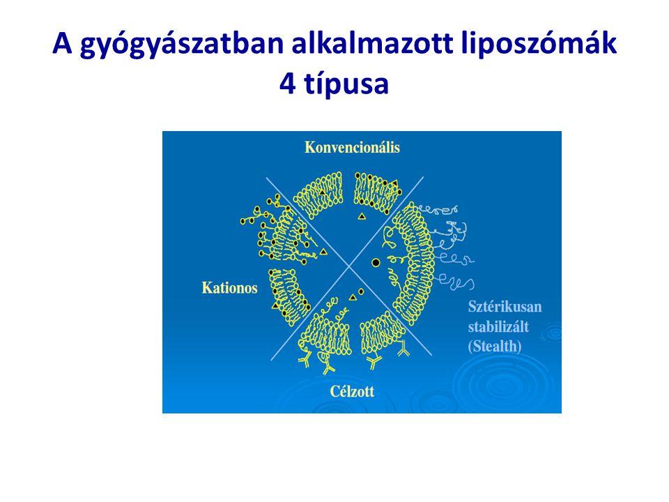 A gyógyászatban alkalmazott liposzómák 4 típusa
