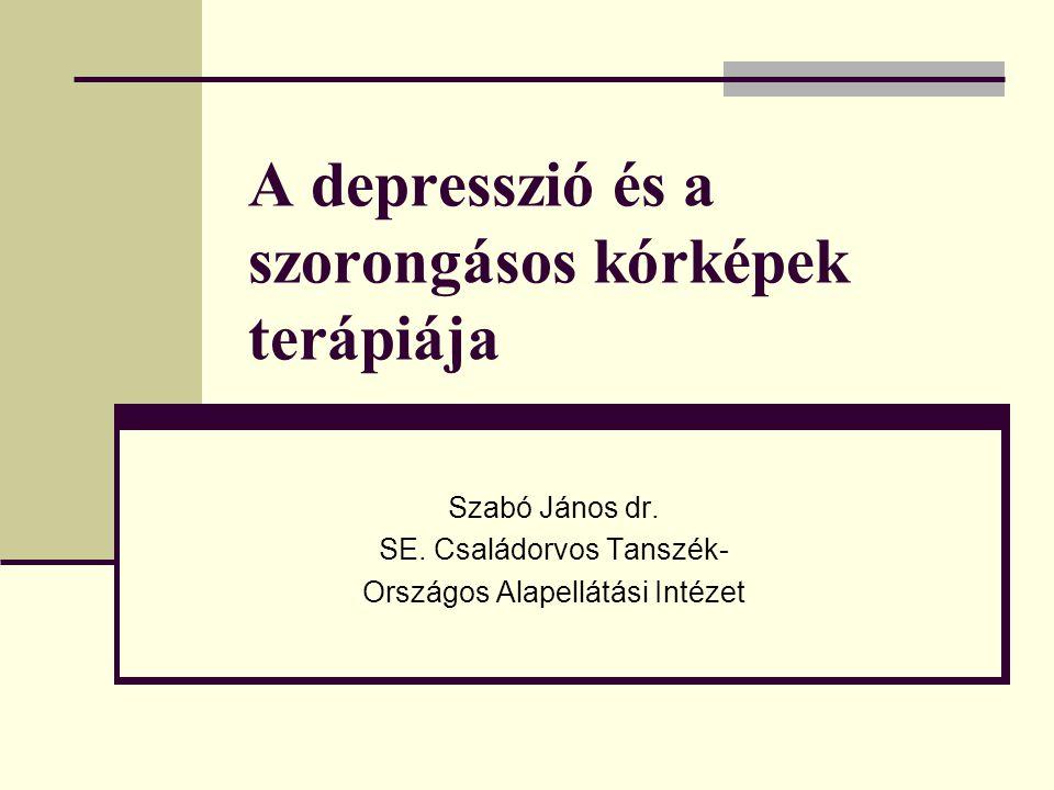 A depresszió és a szorongásos kórképek terápiája