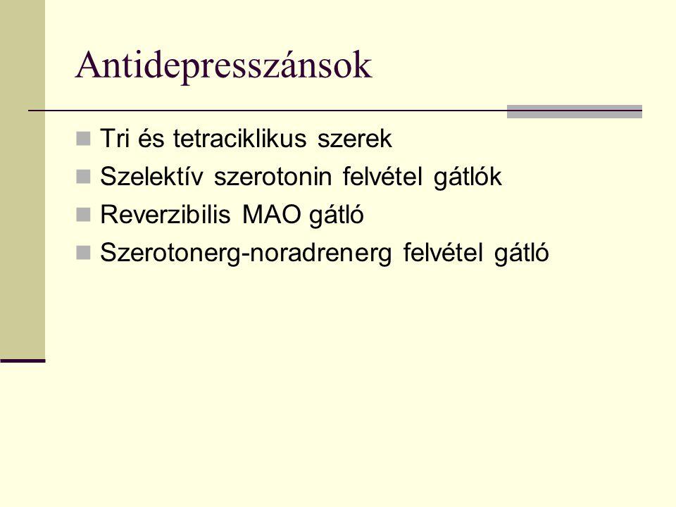 Antidepresszánsok Tri és tetraciklikus szerek