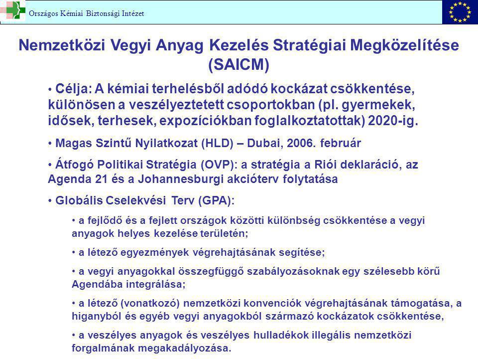 Nemzetközi Vegyi Anyag Kezelés Stratégiai Megközelítése (SAICM)