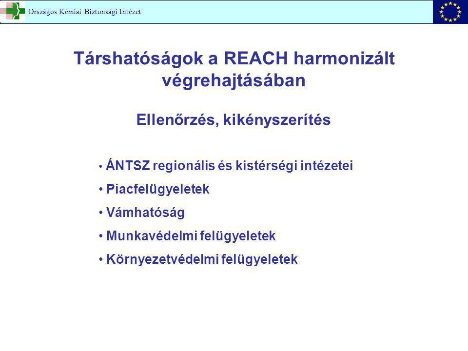 Társhatóságok a REACH harmonizált végrehajtásában