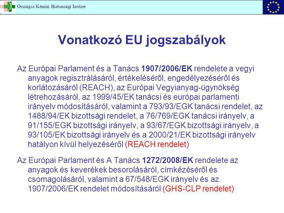 Vonatkozó EU jogszabályok