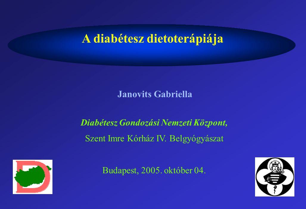 A diabétesz dietoterápiája