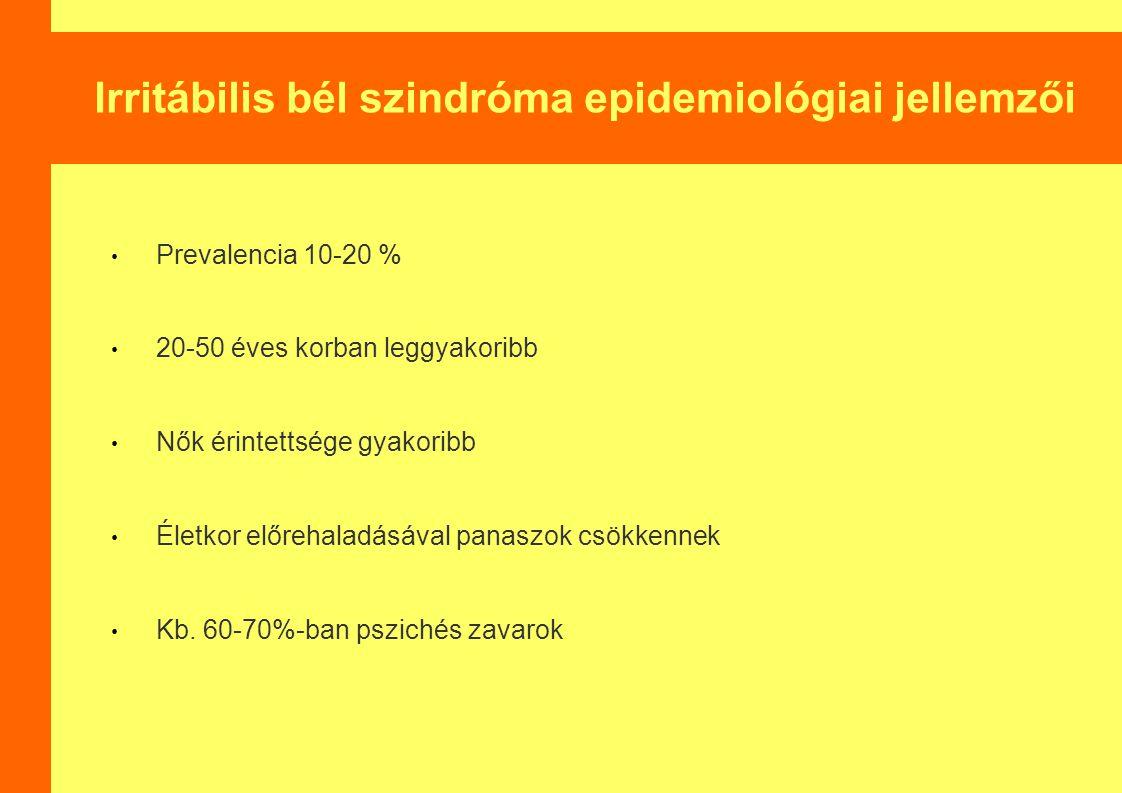 Irritábilis bél szindróma epidemiológiai jellemzői