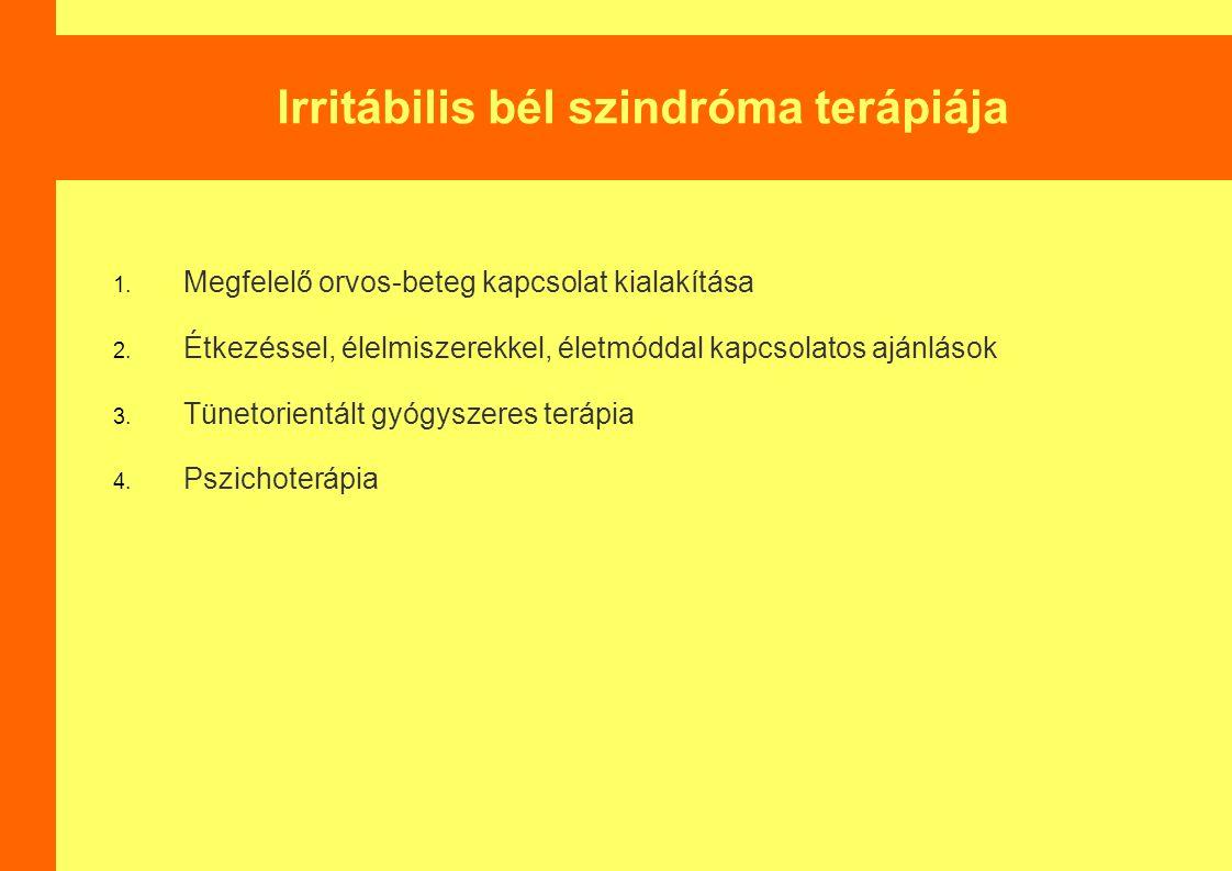 Irritábilis bél szindróma terápiája