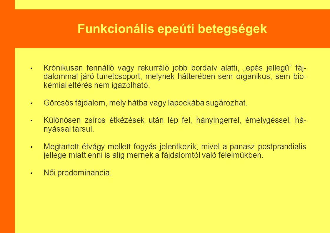 Funkcionális epeúti betegségek
