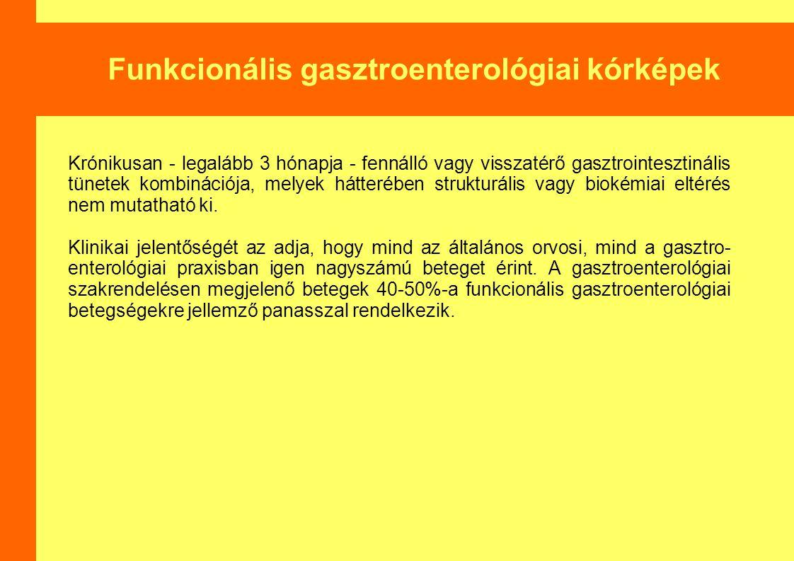Funkcionális gasztroenterológiai kórképek
