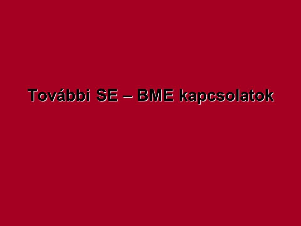 További SE – BME kapcsolatok