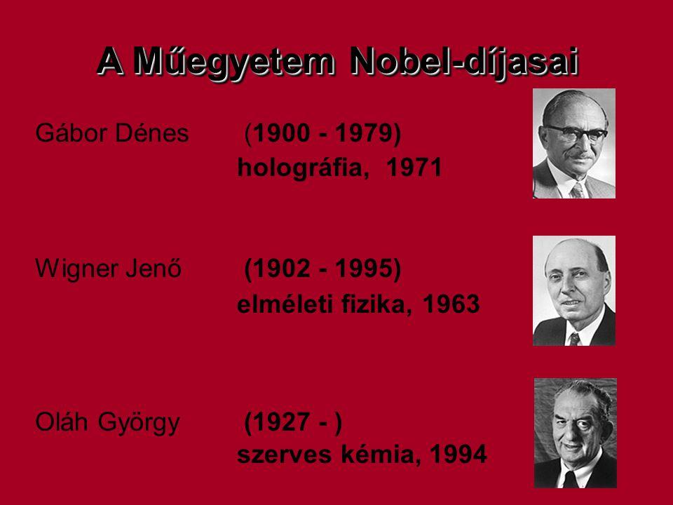 A Műegyetem Nobel-díjasai