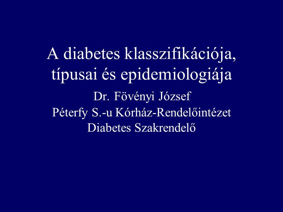 A diabetes klasszifikációja, típusai és epidemiologiája Dr