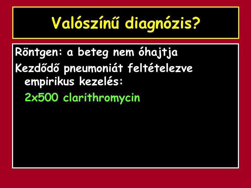 Valószínű diagnózis Röntgen: a beteg nem óhajtja