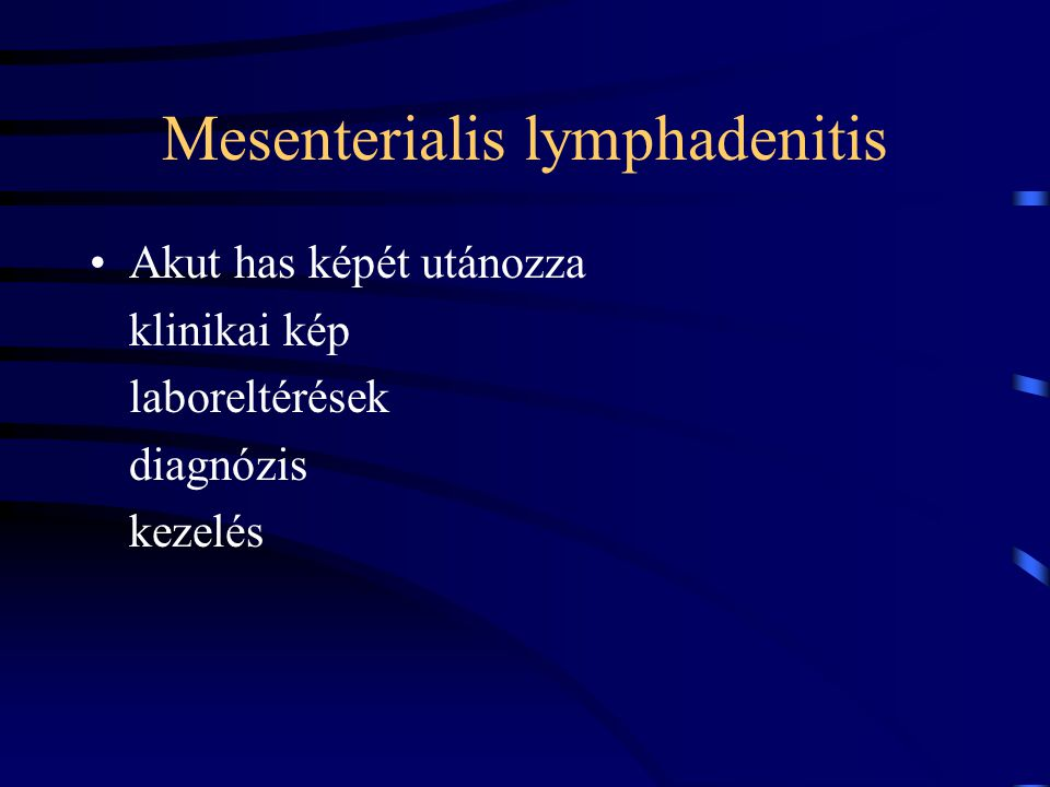 Mesenterialis lymphadenitis