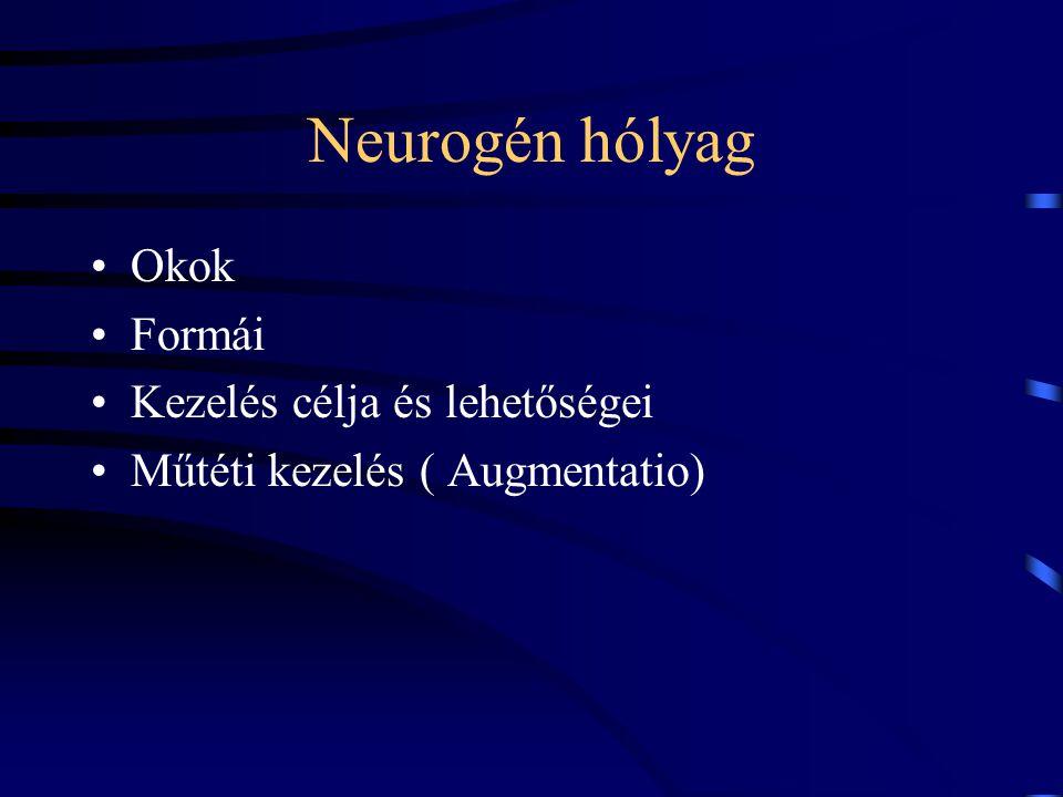 Neurogén hólyag Okok Formái Kezelés célja és lehetőségei