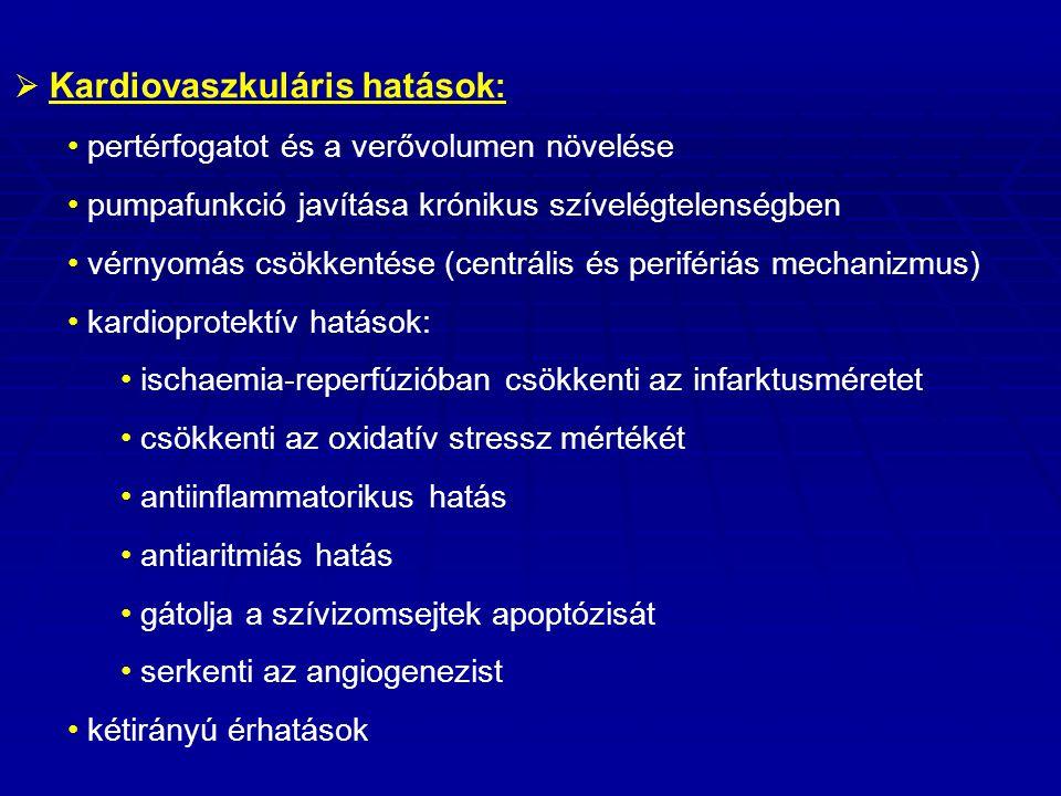 Kardiovaszkuláris hatások: