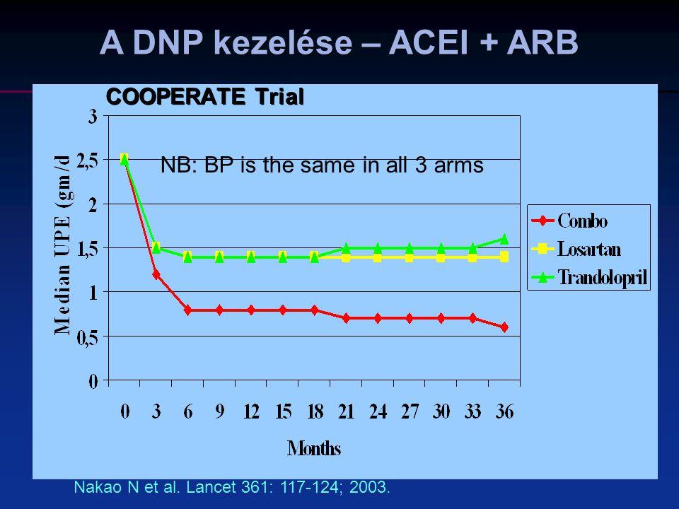 A DNP kezelése – ACEI + ARB