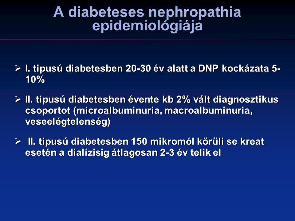 A diabeteses nephropathia epidemiológiája