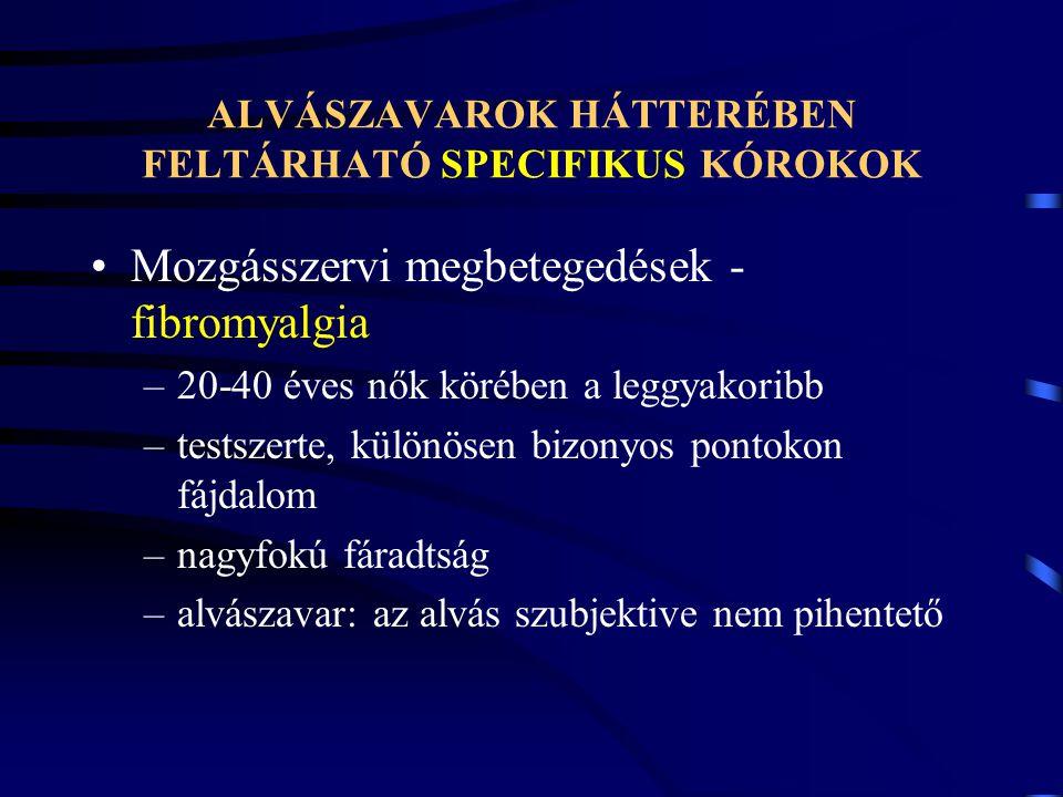 ALVÁSZAVAROK HÁTTERÉBEN FELTÁRHATÓ SPECIFIKUS KÓROKOK