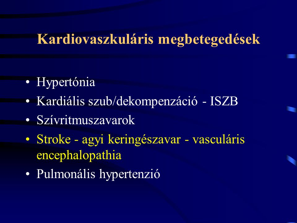 Kardiovaszkuláris megbetegedések