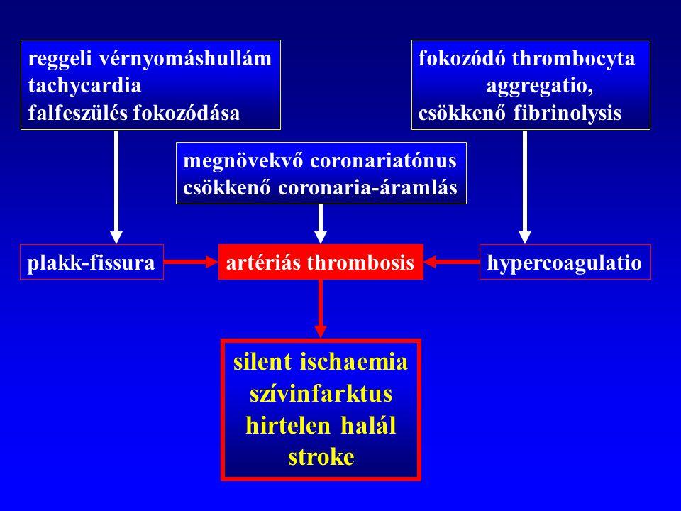 silent ischaemia szívinfarktus hirtelen halál stroke