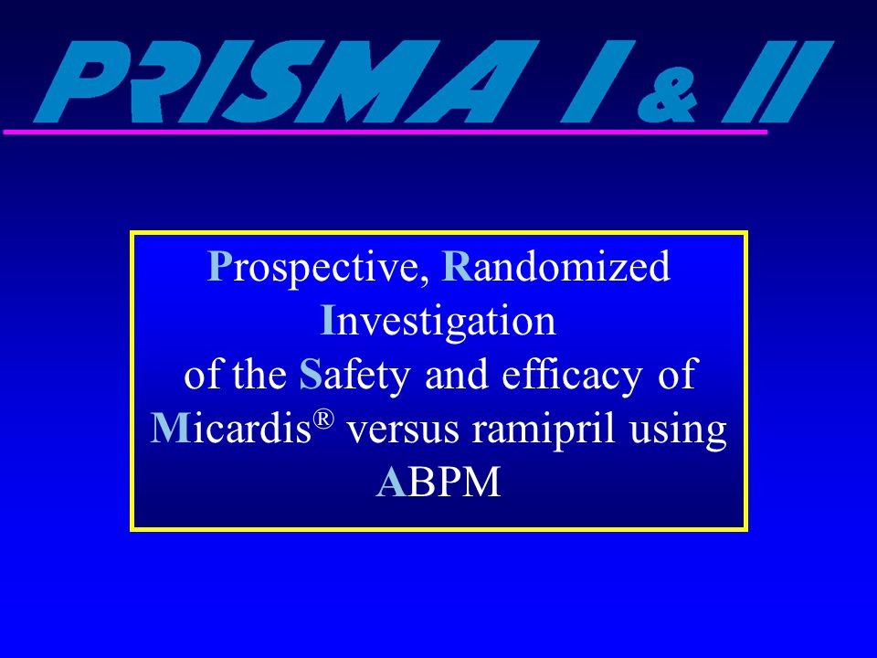 Prospective, Randomized Investigation of the Safety and efficacy of Micardis® versus ramipril using ABPM