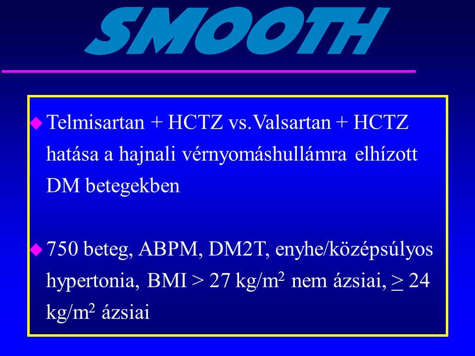 Telmisartan + HCTZ vs.Valsartan + HCTZ hatása a hajnali vérnyomáshullámra elhízott DM betegekben
