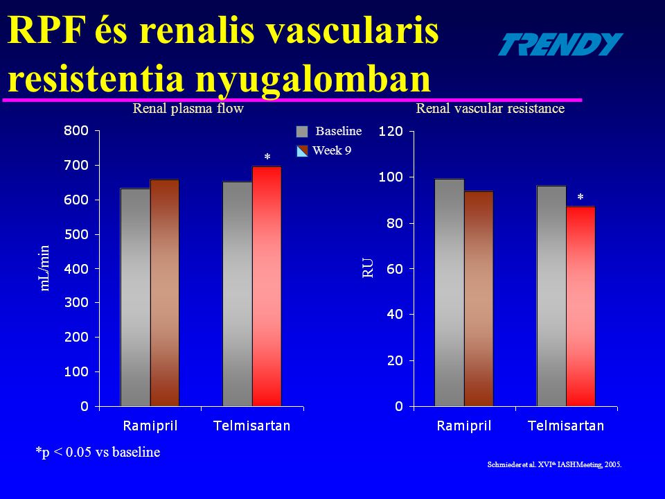 RPF és renalis vascularis resistentia nyugalomban