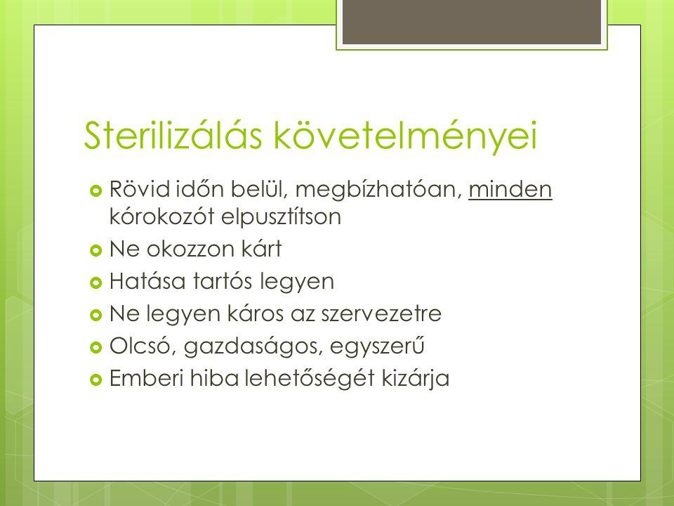 Sterilizálás követelményei
