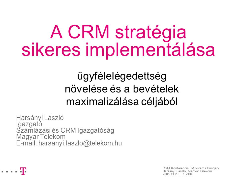 A CRM stratégia sikeres implementálása