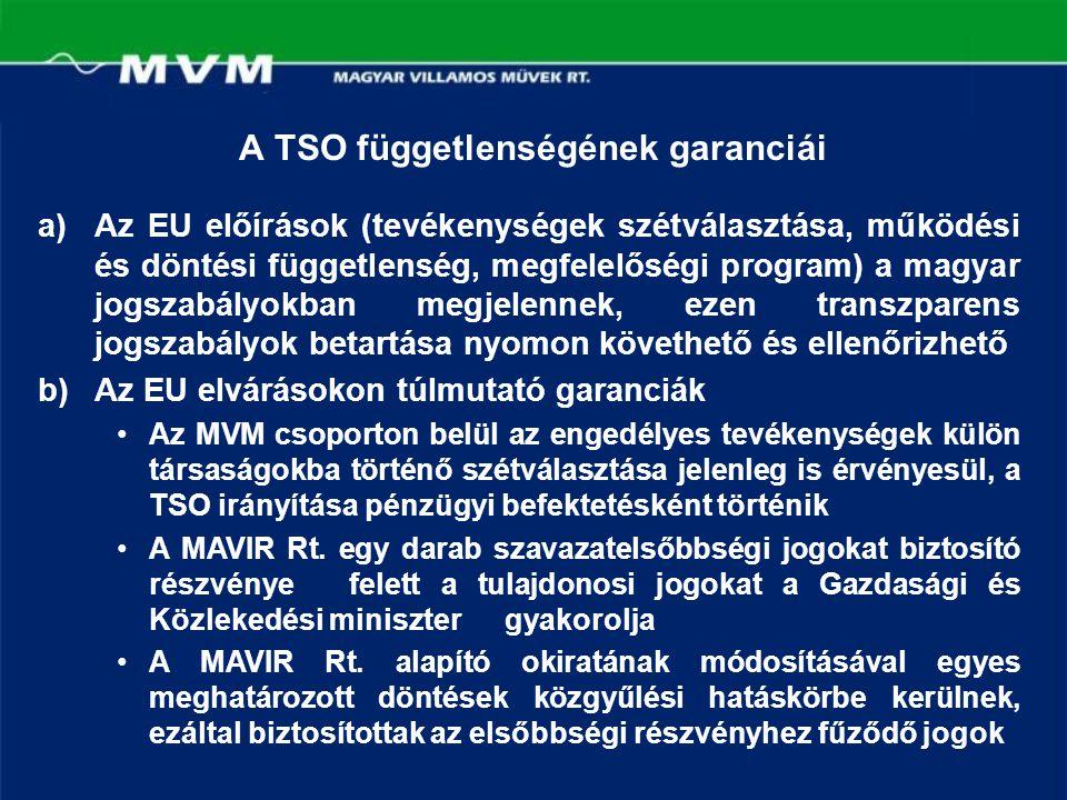 A TSO függetlenségének garanciái