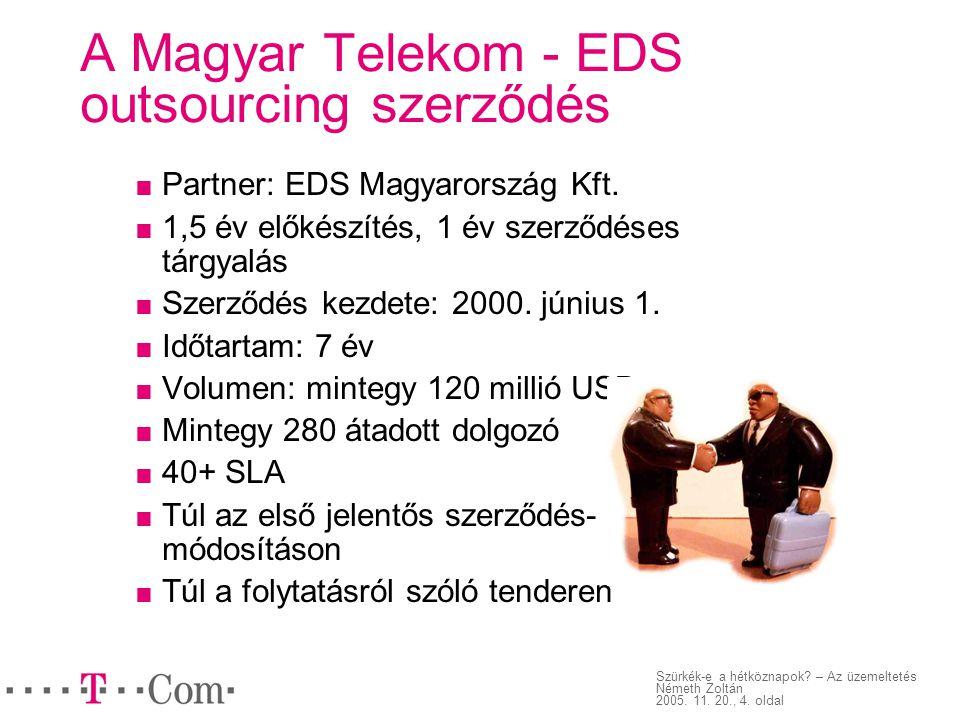 A Magyar Telekom - EDS outsourcing szerződés