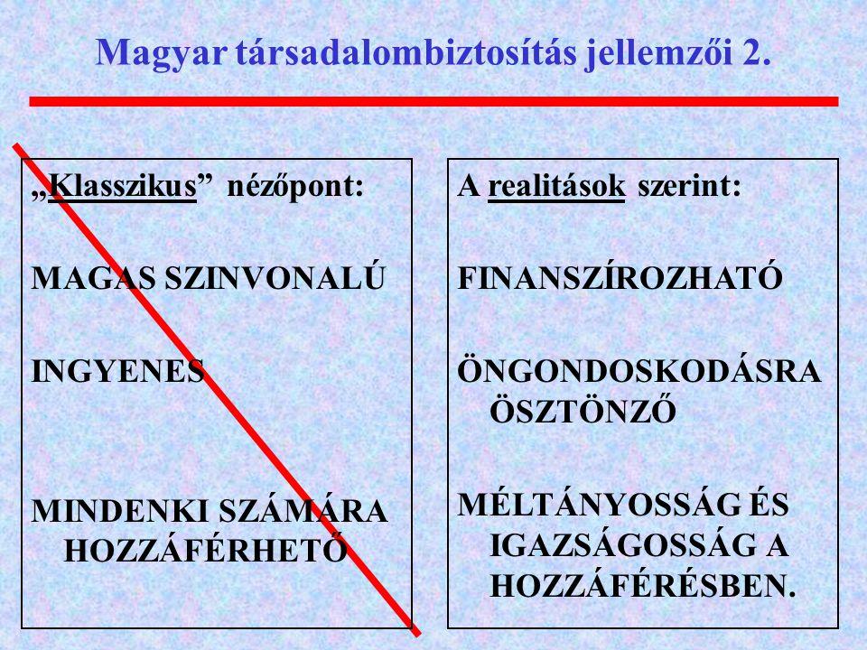 Magyar társadalombiztosítás jellemzői 2.