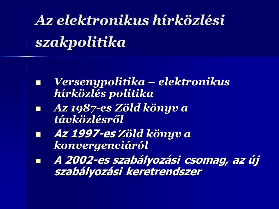 Az elektronikus hírközlési szakpolitika