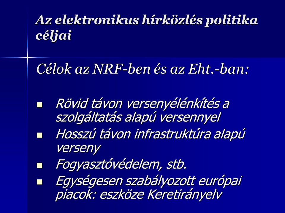 Az elektronikus hírközlés politika céljai