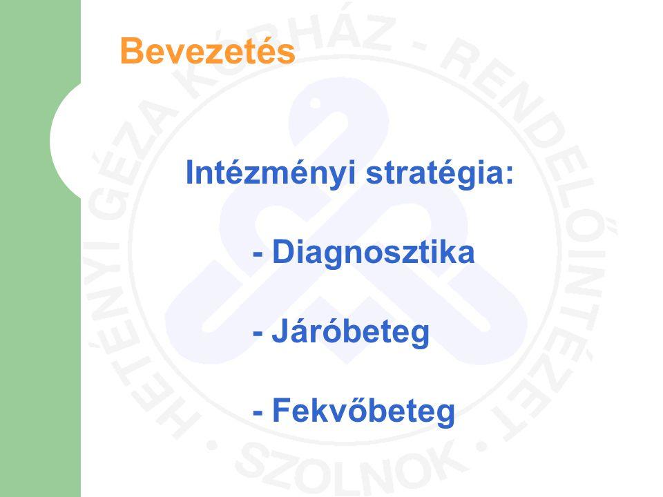 Bevezetés Intézményi stratégia: - Diagnosztika - Járóbeteg