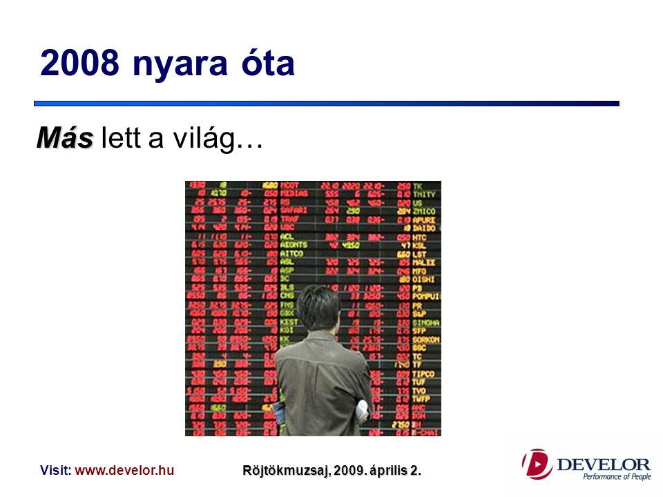 2008 nyara óta Más lett a világ… Visit: www.develor.hu