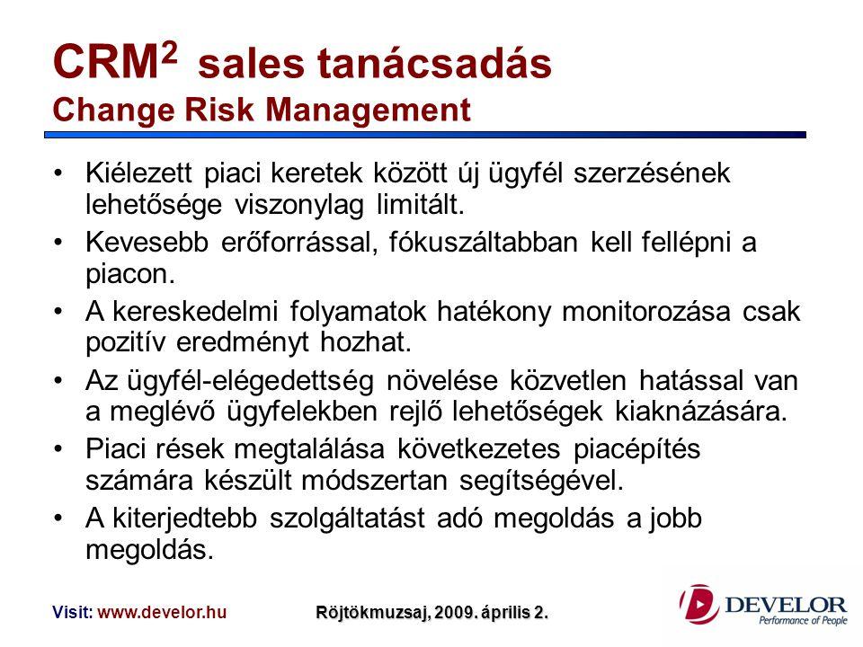 CRM2 sales tanácsadás Change Risk Management