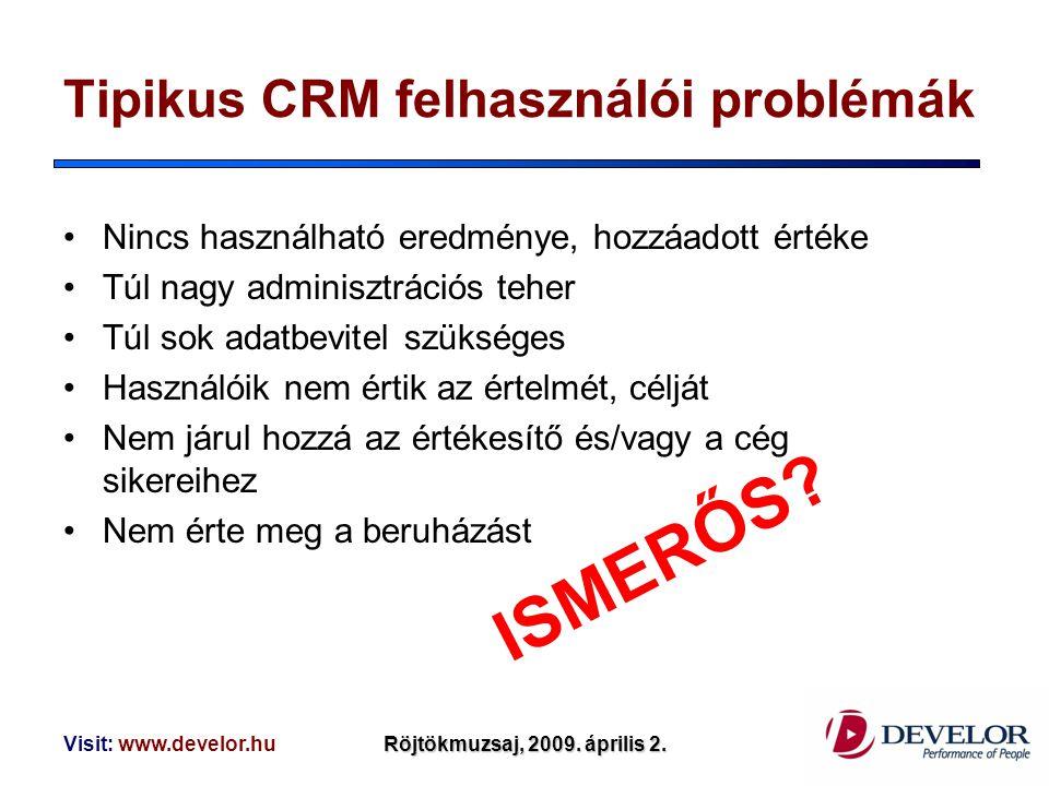 Tipikus CRM felhasználói problémák