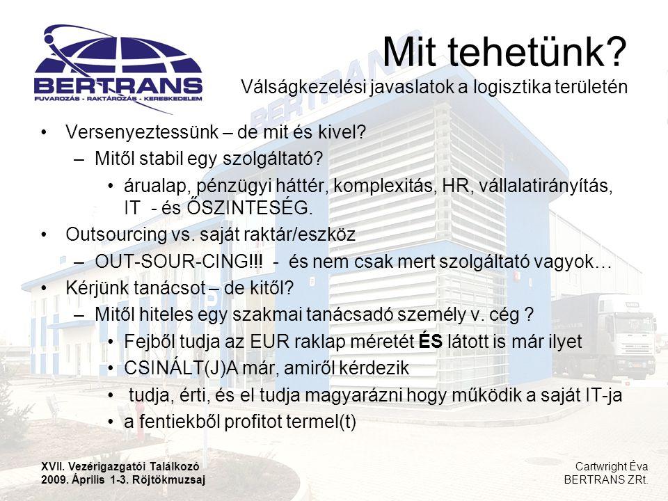 Mit tehetünk Válságkezelési javaslatok a logisztika területén