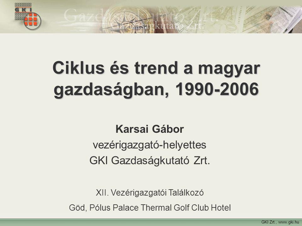 Ciklus és trend a magyar gazdaságban, 1990-2006