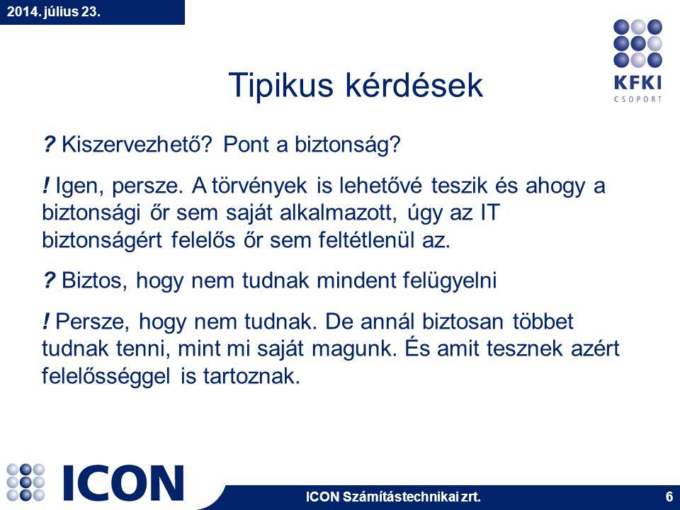 ICON Számítástechnikai zrt.