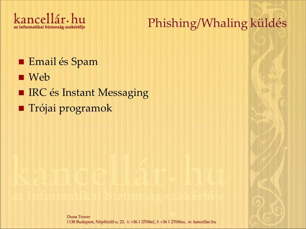 Phishing/Whaling küldés