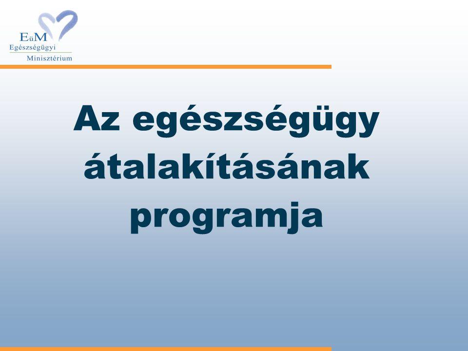 Az egészségügy átalakításának programja