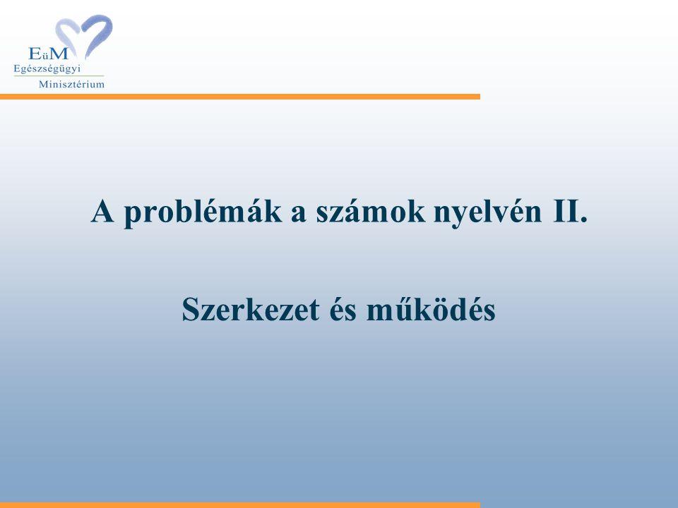 A problémák a számok nyelvén II.