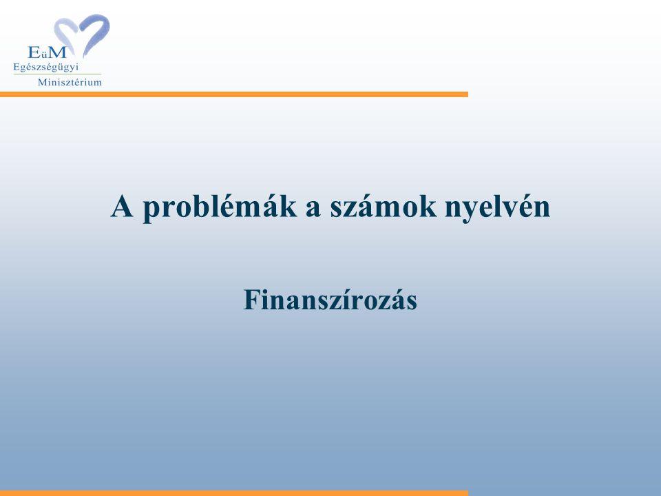 A problémák a számok nyelvén