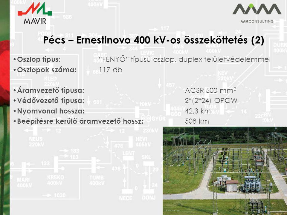 Pécs – Ernestinovo 400 kV-os összeköttetés (2)