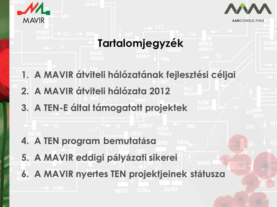 Tartalomjegyzék A MAVIR átviteli hálózatának fejlesztési céljai