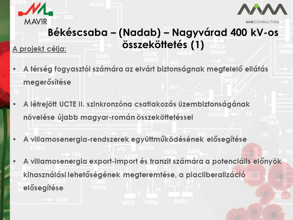 Békéscsaba – (Nadab) – Nagyvárad 400 kV-os összeköttetés (1)