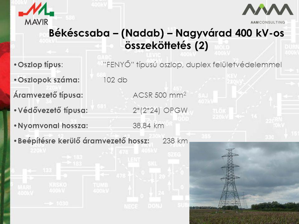 Békéscsaba – (Nadab) – Nagyvárad 400 kV-os összeköttetés (2)