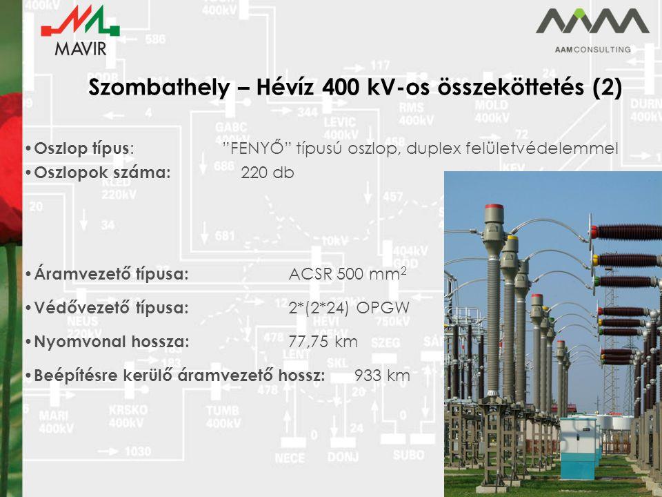Szombathely – Hévíz 400 kV-os összeköttetés (2)