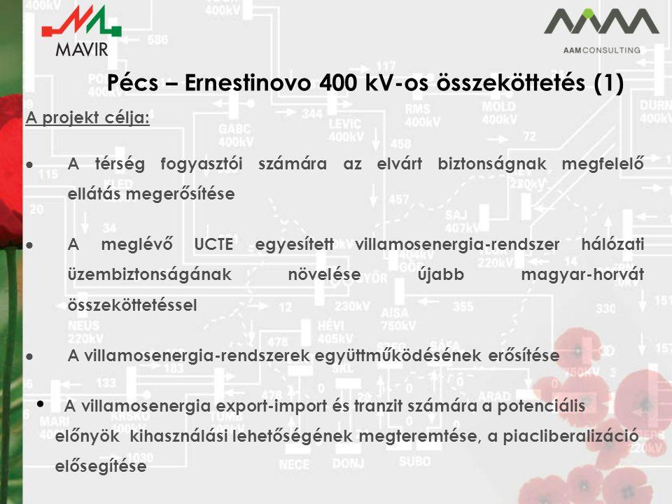 Pécs – Ernestinovo 400 kV-os összeköttetés (1)
